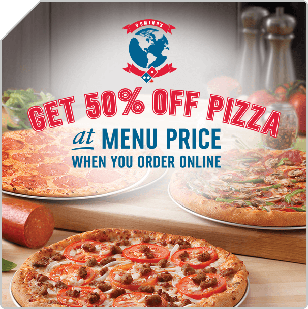 50% Off Any Pizza At Menu Price