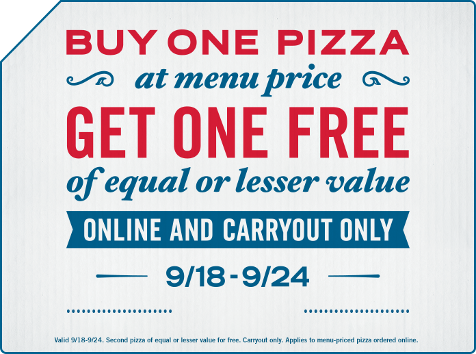 Carryout Deal - Buy One Get One Free