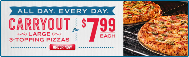 At Domino's, we love to offer our customers great value prices. That includes offering fantastic deals with our Domino's pizza vouchers and pizza coupons. We regularly have pizza deals and special offers for both pick-up and delivery, for.