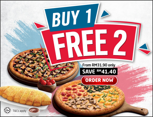 Best Pizza Delivery In Malaysia Order Online Now Domino S Pizza